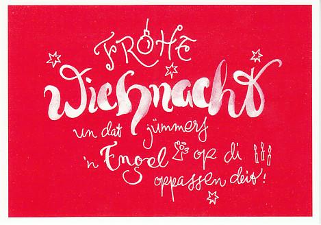 Wiehnachtsglückwunsch Postkort Vun Butenschön Volker