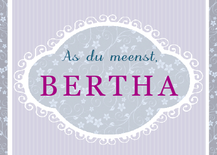Postkort - As du meenst Bertha
