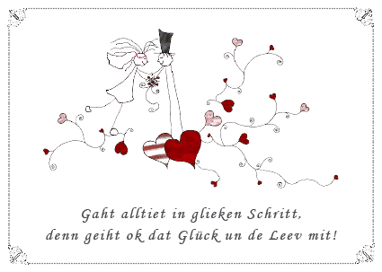 Gluckwunsch Zur Hochzeit Plattdeutsch